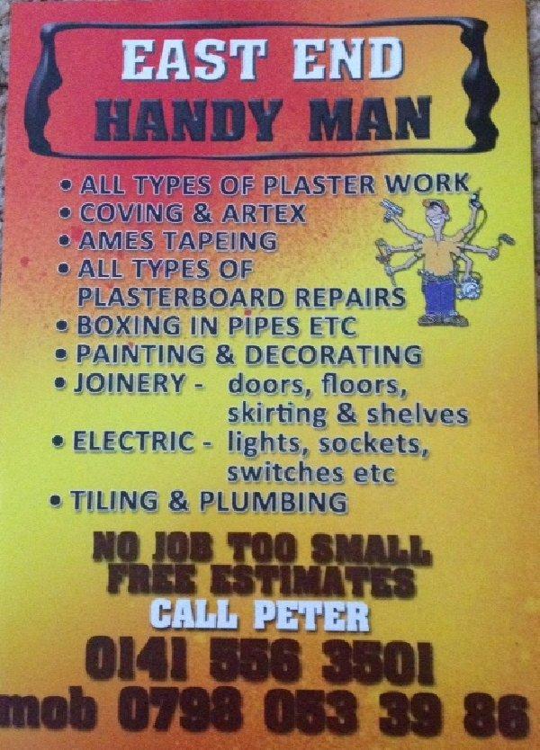 Glasgow Eastend Handyman Picture